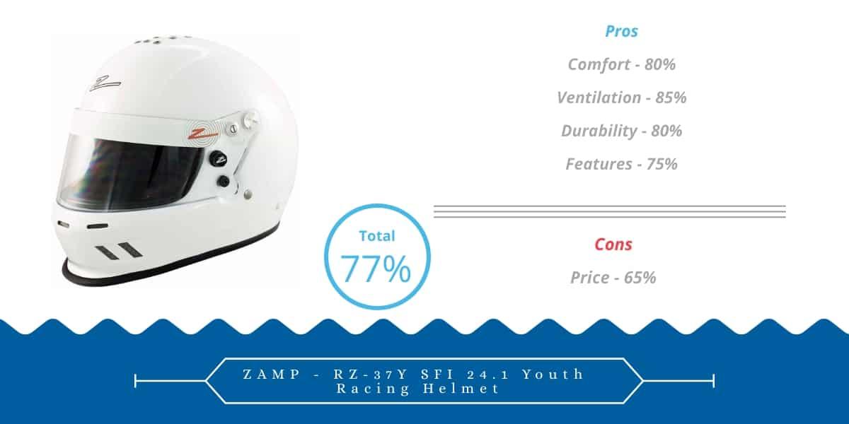 ZAMP - RZ-37Y SFI 24.1 Youth Racing Helmet