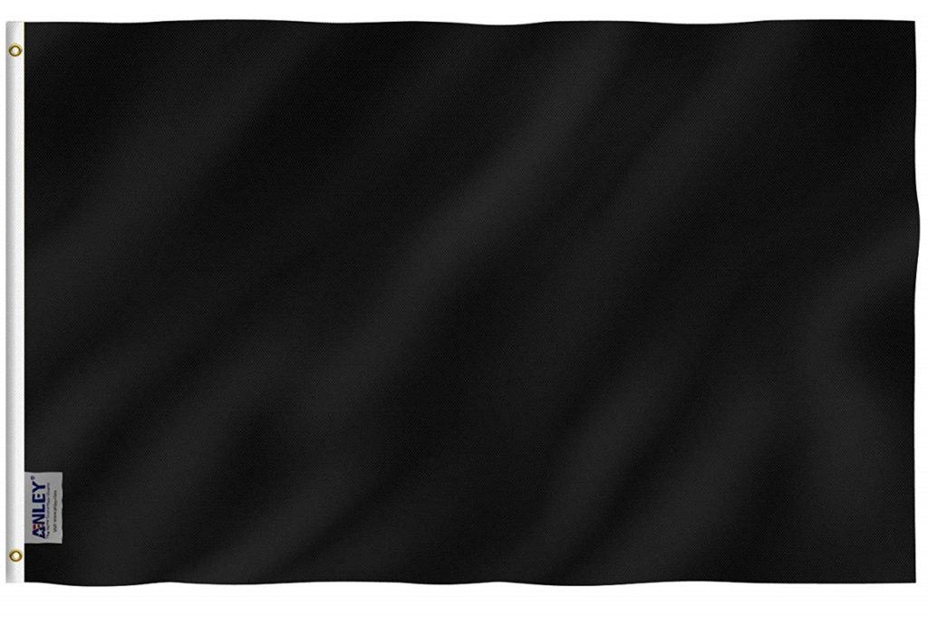 black racing flag