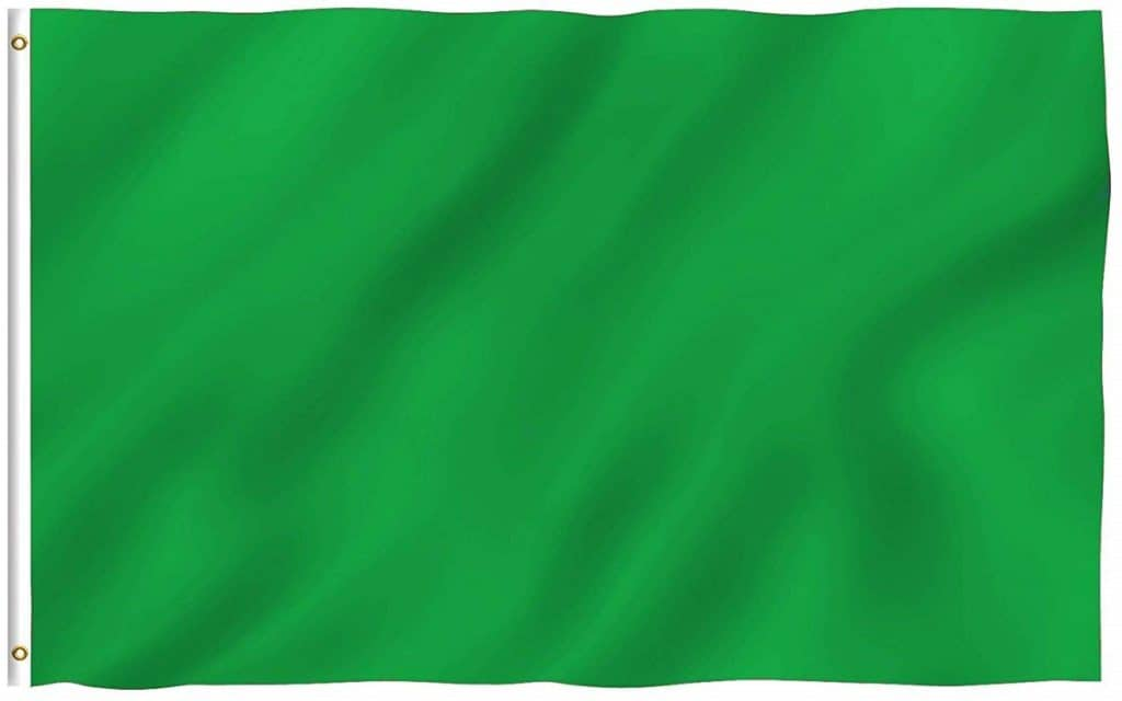 green go-kart flag