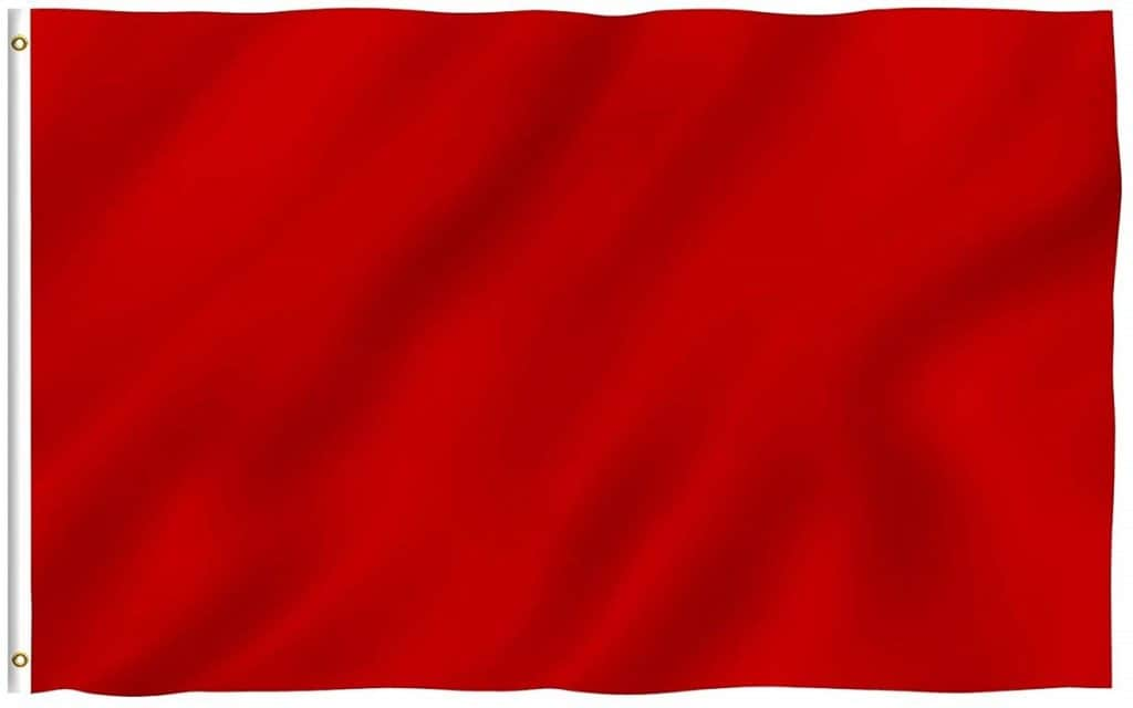 red go-kart flag