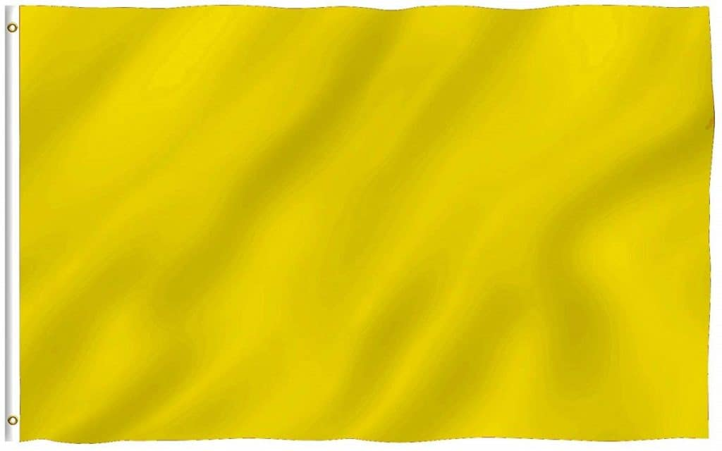 yellow go-kart flag